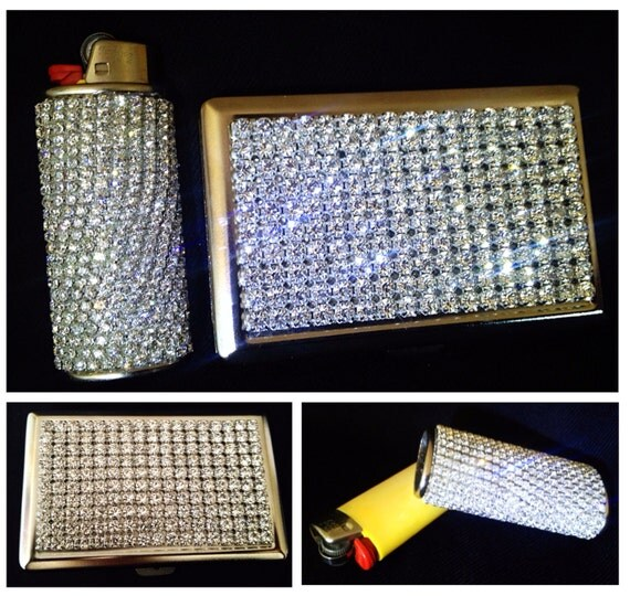 Cigarette Diamond: Diamond Rhinestone Bling Cigarette Case Fits By BlingLighters