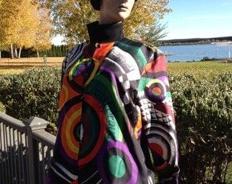 Paris Couture Louis Ferard Silk Blouse Multicolor
