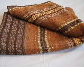 Vintage 1950's - Handmade Baltic Latvian Fabric 54 x 80 inches