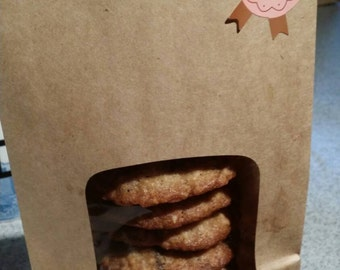 Homemade Chocolate Chip  Oatmeal Holiday Cookies (one dozen, 12 cookies)