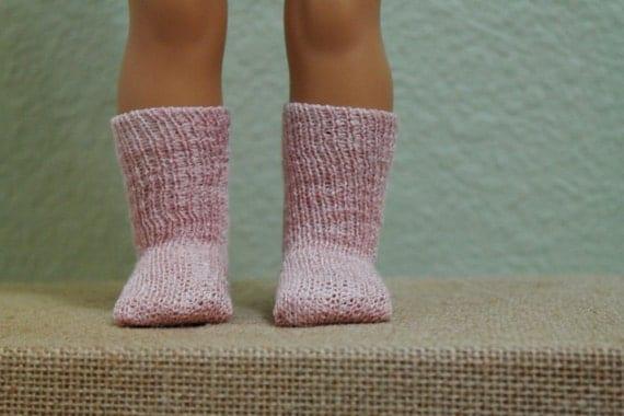 Pink Knit Socks