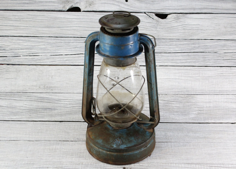 Lampada ad olio tedesco Vintage / antichi rari / Collectible