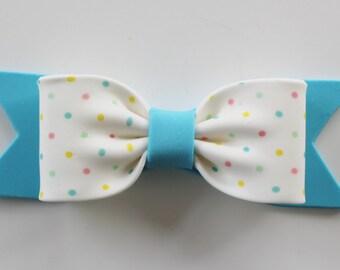 Gum Paste BOW - Blue Polka Dot