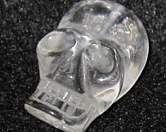 30mm Large Quartz Crystal Skull Bead