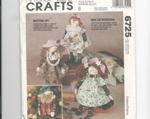 McCalls 6725 Crafts Button Doll