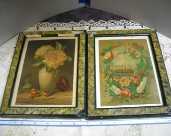 Vintage French Canadian prints w/frames