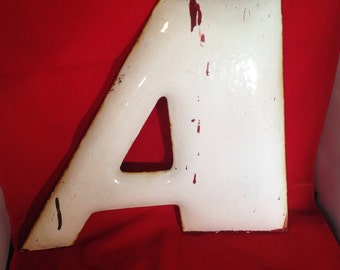 Goodyear porcelain letter A-Industrial