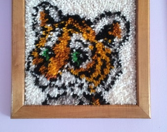 Framed Tiger Latch Hook