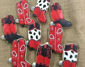 Cowboy Boot Sugar Cookies