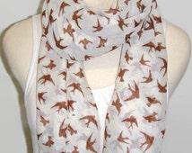 big voile swallow scarf infinity scarf circle scarf pashmina shawl women spring scarf