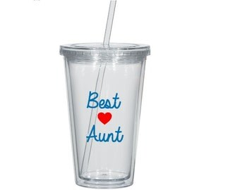 Best Aunt Tumbler, Aunt Tumbler, Aunt Gift, Pregnancy Announcement, Aunt Christmas Gift, Gift for New Aunt, Auntie Gift