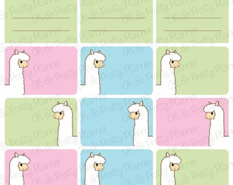 Planner Stickers - Llama Full Box & Half Box Stickers for your ECLP