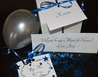 Will You Be My... Balloon Pop Box - Ask Bridesmaid/Maid of Honor to be in your wedding - Pregnancy Announcement - Gender Reveal - Prom Date