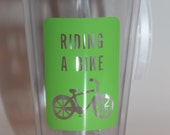 Riding a Bike Tumbler, Summer Fun, Bicyle,  Learn to Ride Bike, Personalized Tumbler 16 oz Cups