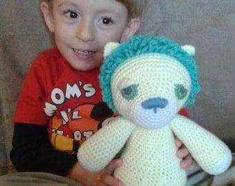 crochet lion plush toy