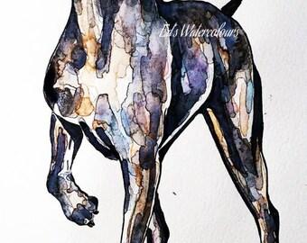 "weimaraner "" Print Watercolour A3 (30*40cm/16*12 Inches)"