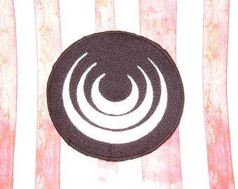 1:12 Scale Doll House Carpet Art Deco Style Black & White Round Rug  Mat