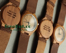 Engraved Mens watches, Mens watch, Wooden watch, Groomsmen gifts, mens watch, watches, wedding gifts, Engagement Gift, Anniversary Gift