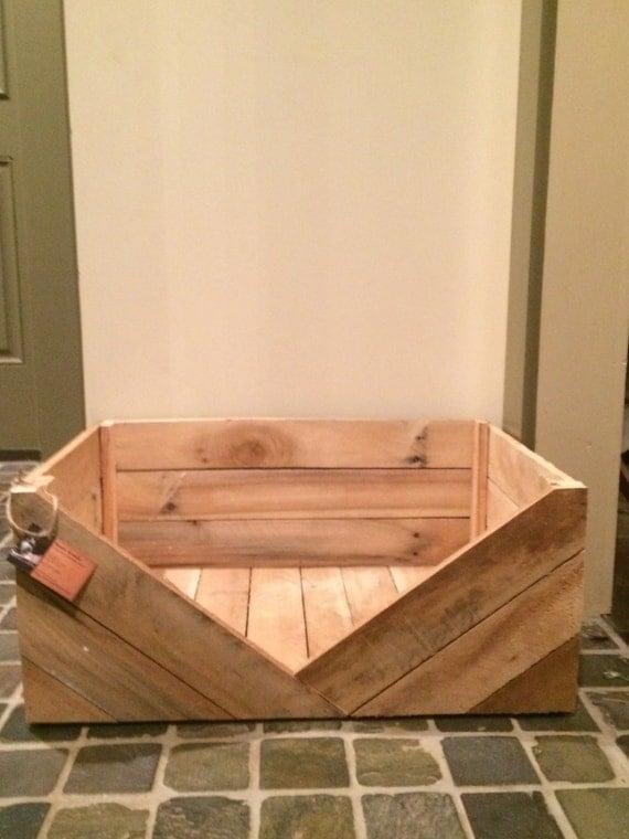 Primitive Dog Bed Rustic Dog Bed Reclaimed Wooden Dog Bed