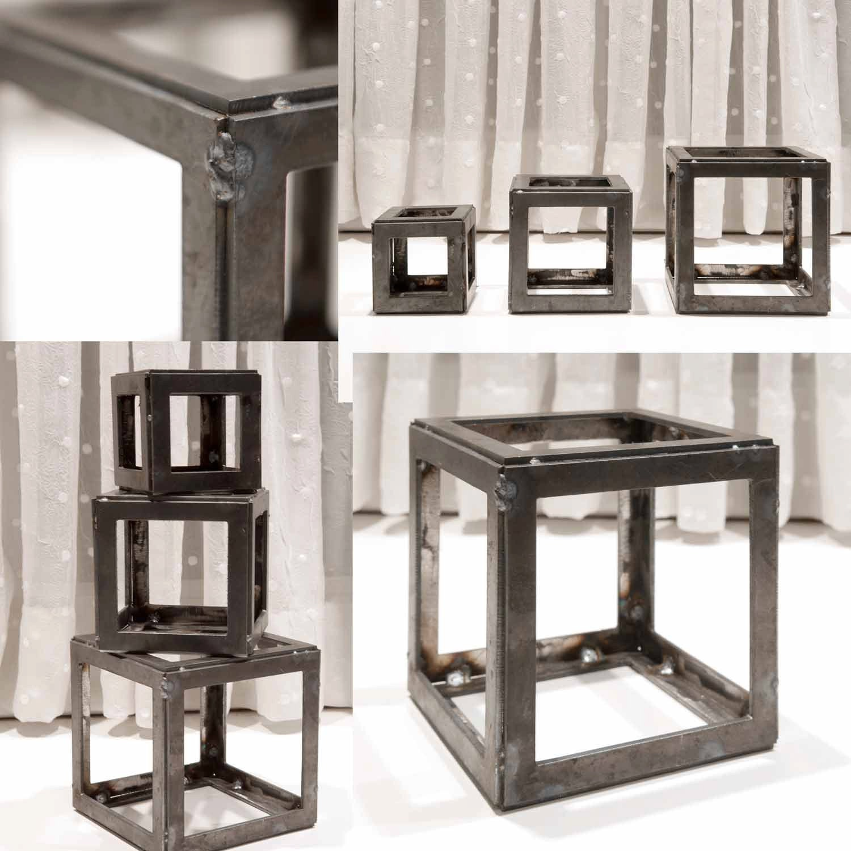 Metal Cubes 345 Steel Cube Handmade