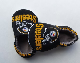 Pittsburgh Steelers baby shoes, crib shoes, baby slippers