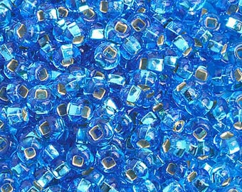 6/0 S/L Light Blue Glass Seed Beads 40 Grams