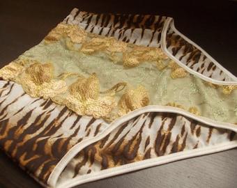 High waisted panties ladies mesh underwear net lingerie high waist animal print undies tiger print feminine shapewear highwaist panties