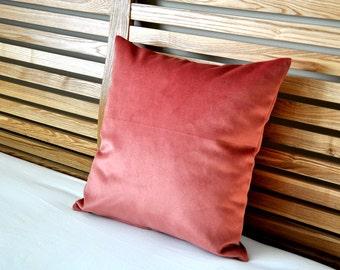 Pink velvet pillow cover pink cushion cover velvet pillow case cushion case double side made in Australia
