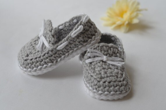 Crocheted Baby Boat Shoes Baby Loafers
