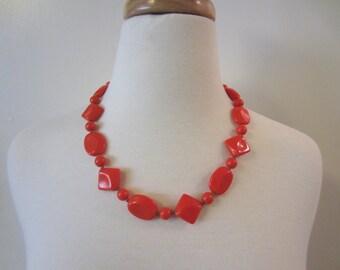 Vintage Coral 1960s Necklace