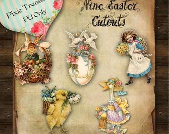 Nine Easter Cutouts