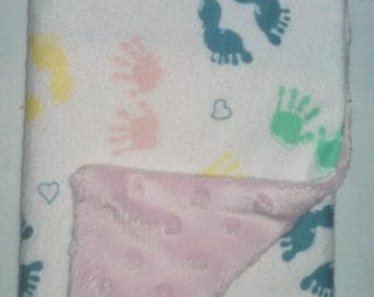 SALE!!! Little Feet Burp Cloth