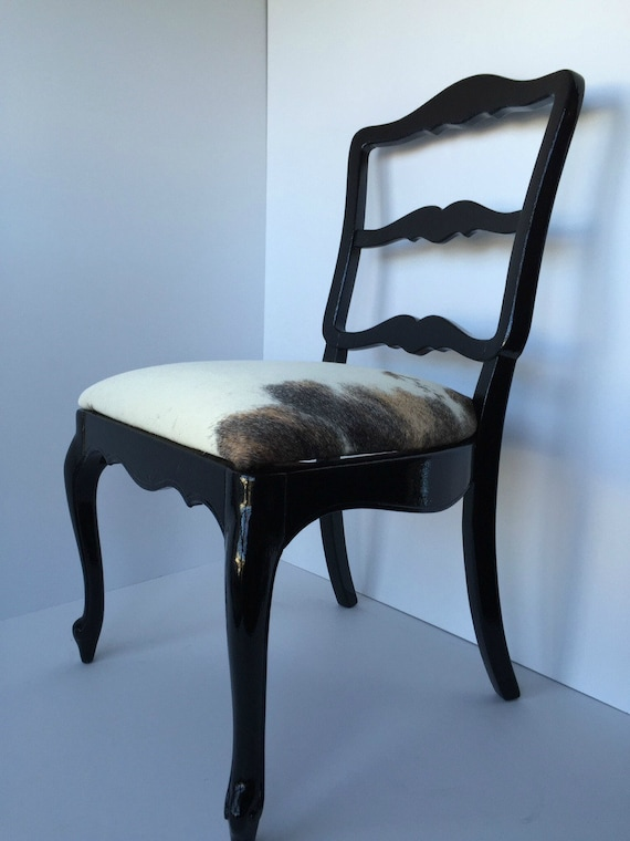 set of four dining room chairs white black and by