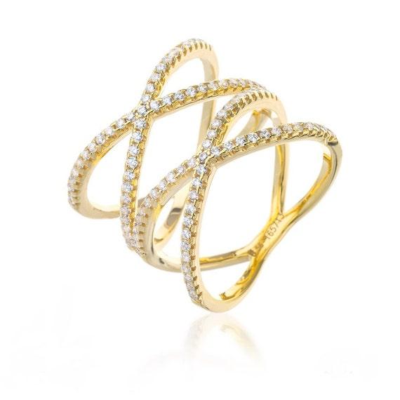 criss cross ring gold x ring xx cross ring cross