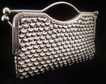 Large Handmade Soda Tab clutch purse|| Kiss Clasp || MADE TO ORDER ||