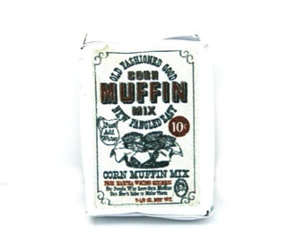 Muffin Mix Packet Dolls House Miniature