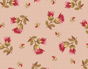 Little Pink Stars II - Tossed Floral Sprays Fabric
