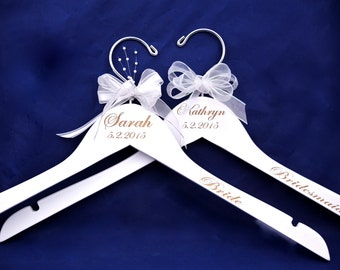 """Amanda""""s 5  Personalized Bride or Bridesmaids Hanger  - Price includes freight"""
