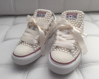Pearl Covered Converse