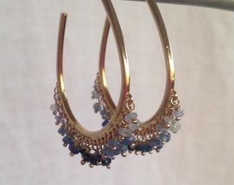 KIMI ombré sapphire earrings