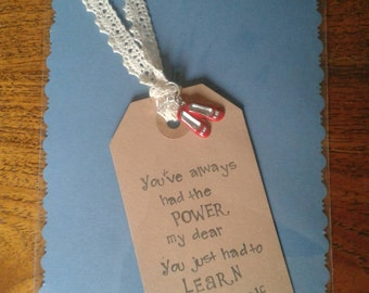 Quotation Luggage Tag & Lace Bookmark Wizard of Oz