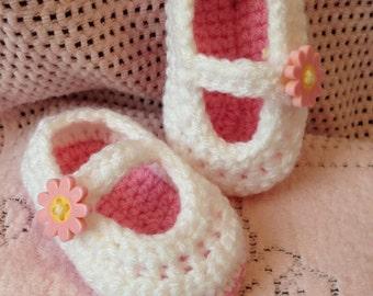 Light Pink Daisy Mary Jane