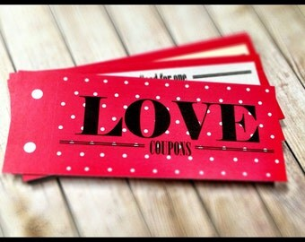 Pink Love Coupon Book , Valentine, Birthday Gift for girlfriend, wife, For HER, Love Coupons, Last Minute DIY Printable, Instant Download