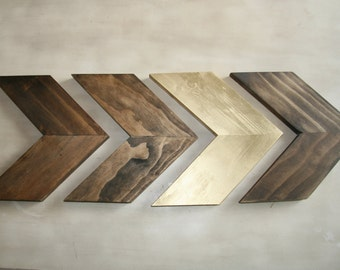 Wood Chevron Arrows- set of 4. Wood Arrow Wall Art. Chevron Home Decor. Modern Wood Chevron Arrows. Rustic Wood Chevron Arrows