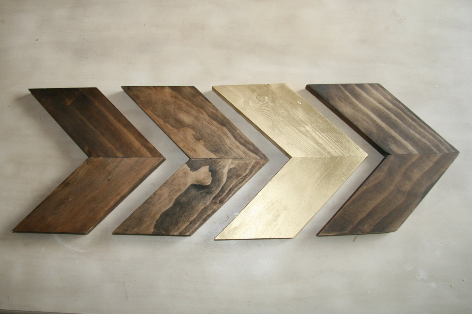 Wood Chevron Arrows Wood Arrow Wall Art Chevron Home Decor