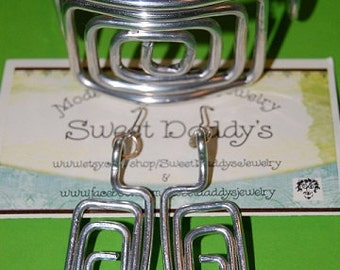Rectangle earring and cuff set