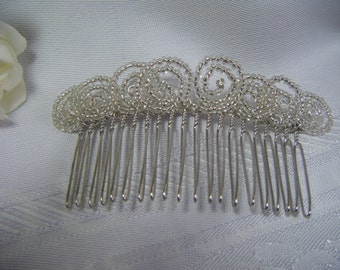 Wedding bridal hair comb handmade