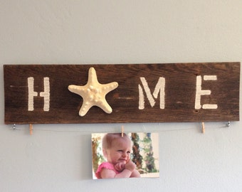 Beach inspired HOME sign