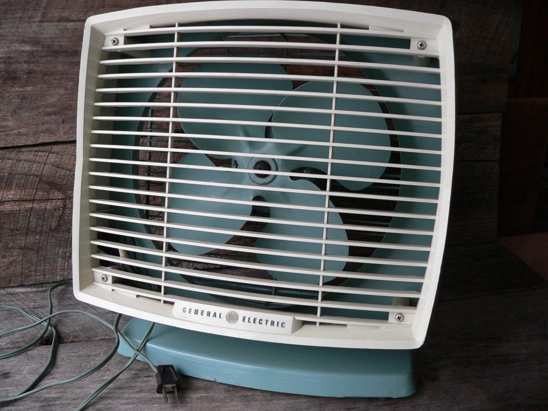 Electric Box Fan : Vintage baby blue box fan general electric by