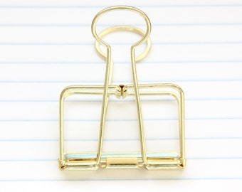 Gold Binder Clip - 51mm - Stationery - Studio - Decorative Clips - Office - Studio